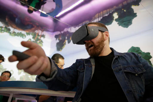 Google's mixed reality tech shows faces behind VR headsets