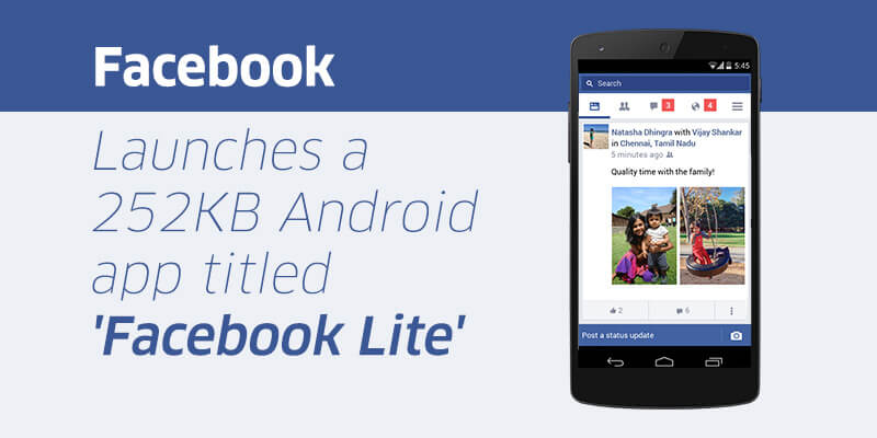 Facebook Lite Grows to Over 200 Million Users Each Month