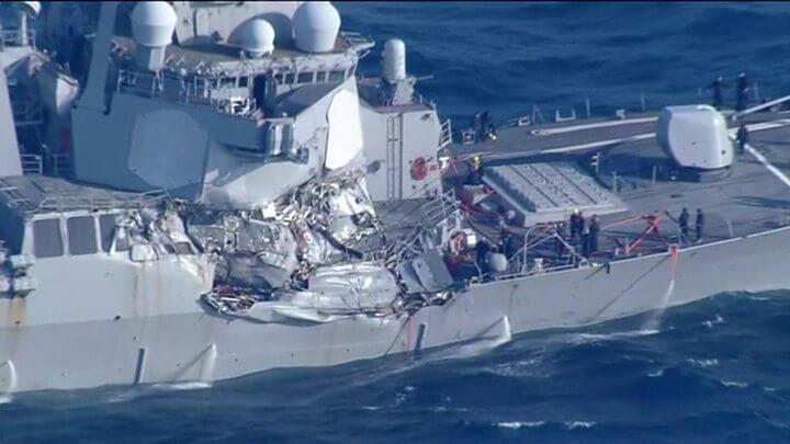USS Fitzgerald crash: Seven navy crew missing off Japan